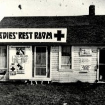 Image of Print, Photographic - Ladies Rest Room, McLeod County Fairgrounds