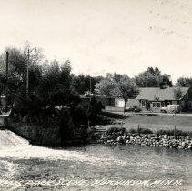 Image of Postcard - Dam and Park Hutchinson MN c.1930s-postcard