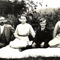 Image of Postcard - Unidentified family group-postcard