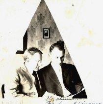 Image of Postcard - Prof. Schumann & Edward Rowell (Edward Zbitovsky)-postcard