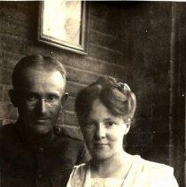 Image of Postcard - Unidentified couple-postcard
