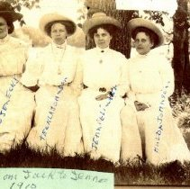 Image of Postcard: four ladies identified
