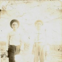 Image of Postcard - Two unidentified boys-postcard