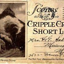 Image of Postcard - Scenes along Cripple Creek Short Line-Postcard
