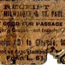 Image of Railroad ticket