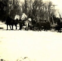 Image of Horse teams in winter-postcard