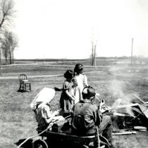 Image of Print, Photographic - School Dist 20, Cleanup Day Wiener Roast, 1951-52