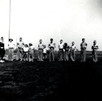 Image of Print, Photographic - School District 20 Picnic, Sack Race, 1953