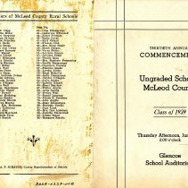 Image of Program - 1939 Commencement Program