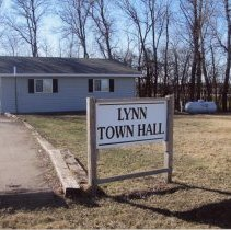 Image of Print, Photographic - Lynn Town Hall, District 41, Lynn Township Location