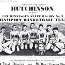 Image of Print, Photographic - 1939 Hutchinson championship boys basketball team