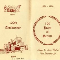 Image of Booklet - Acoma & Lynn Mutual Fire Insurance Co. booklet