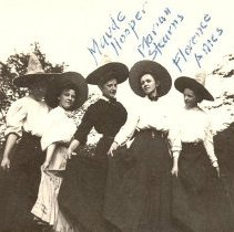 Image of Women wearing hats, with poetry