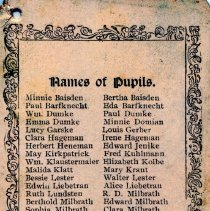 Image of Souvenir card from School District #70
