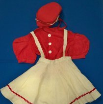 Image of Red & white dance costume