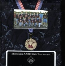 Image of Plaque, Award - Baseball plaque award
