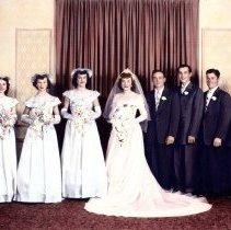 Image of Roy & Vlasta Dostal Pikal wedding, 1950