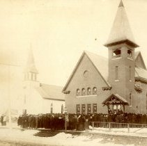 Image of Print, Photographic - Czech Brethren Presbyterian Church, Silver Lake, MN, 1905