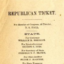Image of Ticket - Republican ticket