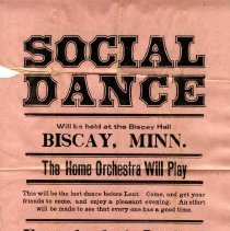 Image of Poster - Dance poster, Biscay, MN