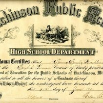 Image of Print, Photographic - Hutchinson HS diploma-Emma Nordstrom