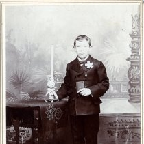 Image of Print, Photographic - Unidentified confirmation boy