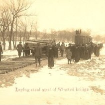 Image of Postcard - Postcard: Laying Tracks West of Winsted