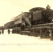 Image of Postcard - Postcard: First Train Crossing Winsted Bridge