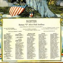 Image of World War I poster & roster
