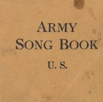 Image of WWI Army Song Book