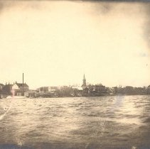 Image of Postcard - Postcard: View across Winsted Lake to Town
