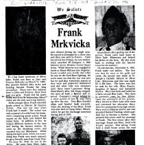 Image of Frank Mrkvicka biography