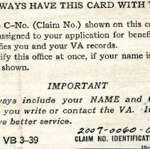 Image of Identification Card Backside
