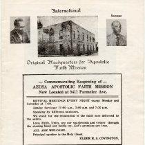 Image of Azusa Apostolic Faith Mission- Commemorating Reopening