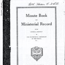 Image of Minute Book and Ministerial Record