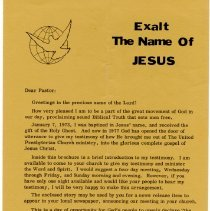 Image of Letter to pastor from Babinsky