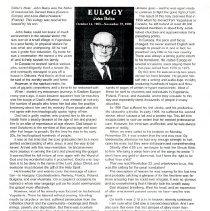 Image of John Balca Eulogy