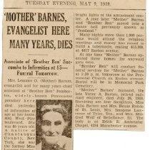 Image of Evangelist Barnes dies at 85