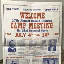 Image of Illinois Camp Meeting Poster 1960