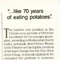 "Image of ""...like 70 years of potatoes""."