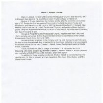 Image of Profile of Mack D. Abbott