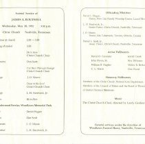 Image of James Boutwell funeral card, open