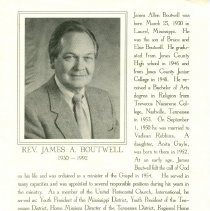 Image of James Boutwell funeral card, page 1