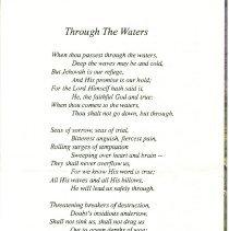 Image of Calvin S. Albert memorial card, back