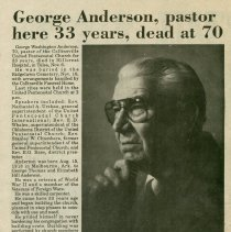 Image of George W. Anderson obituary
