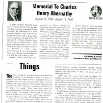 Image of Charles Abernathy Memorial