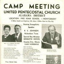 Image of Alabama District camp meeting poster, 1976