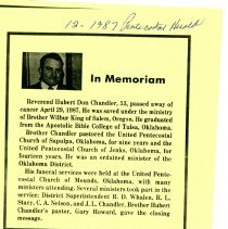 Image of Obituary for H. Don Chandler