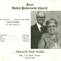 Image of Rev. Jett D. Drain with Sister Drain