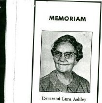 Image of Memoriam about Reverend Lura Ashley